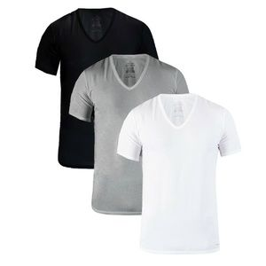 Calvin Klein 3-Pack Slim Fit Cotton V-Neck Tee
